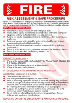 Risk assessment for Fire evacuation procedure template free